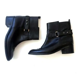 J.Crew Black Ankle Boots Parker Leather Size 7.5